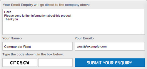 Email Enquiry Form